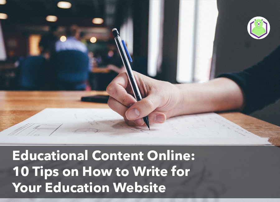 write for your education website