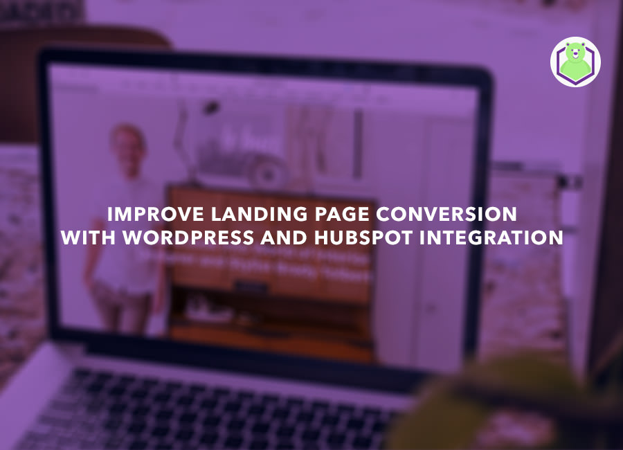 Improve Landing Page Conversion with WordPress and HubSpot Integration - laptop screen