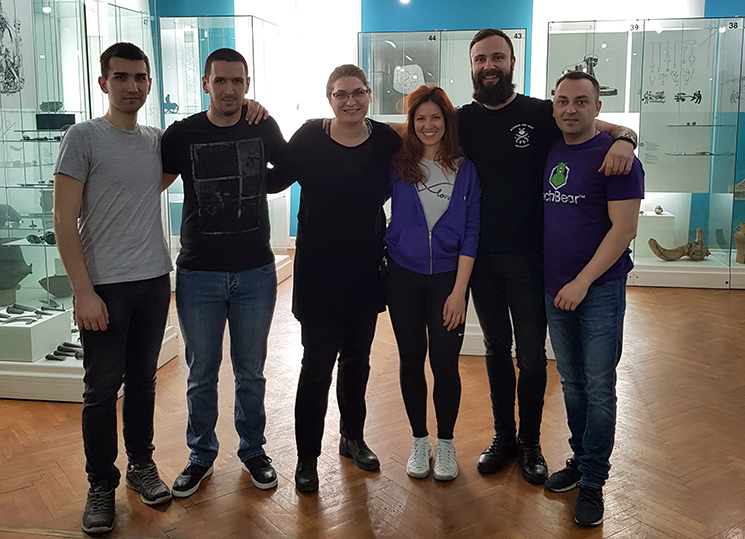 TechBear Team at the Museum of Vojvodina